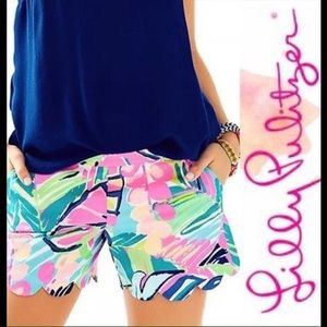 Lilly Pulitzer Magnolia Scalloped Shorts Exotic